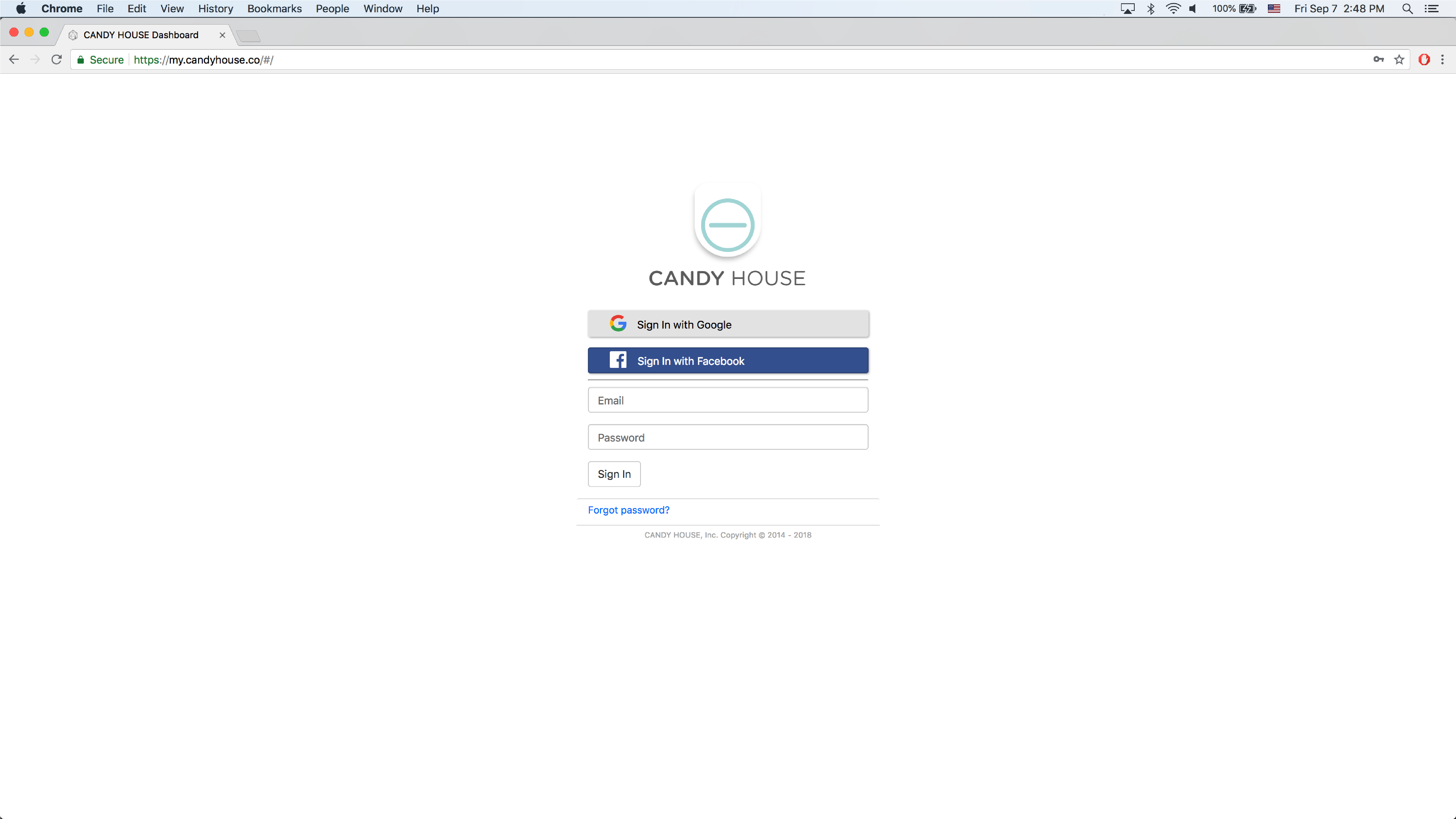 CANDY HOUSE Dashboard